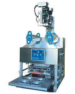 Semi automatic sealing machine for round container