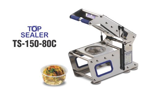 Top sealer for 80 dia cups/glasses