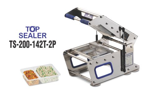 Top sealer for 2 portion tray
