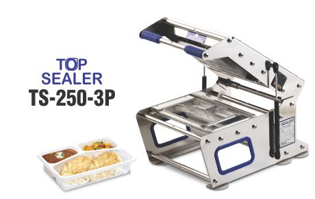 Top sealer for 3 portion tray