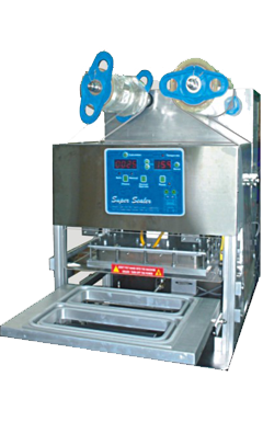Semi automatic sealing machine for rectangular container