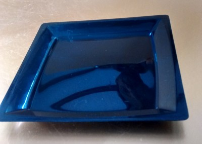 "6"" Black rectangle plate"