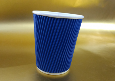 250ml Ripple Blue Paper Cup