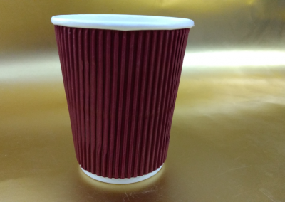 250ml Ripple Red Paper Cup