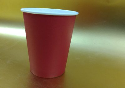250ml Heavy Red Single wall Cup